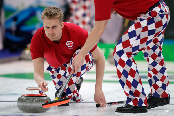 The Norweigan curling team thought these pants were neat