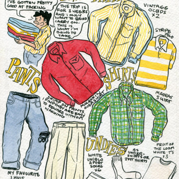 Style & Fashion Drawings: Dick's Packing List
