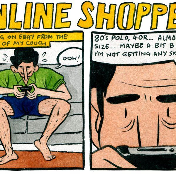Style & Fashion Drawings: Online Shopper